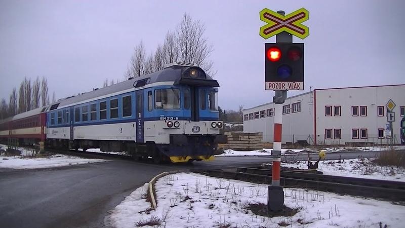 Spoorwegovergang Příšovice (CZ) Railroad crossing Železniční přejezd