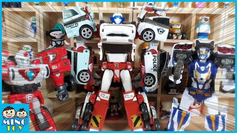 Tobot Quatran Transformation Car with Tobot V Captain police and Rescue R Transformer video