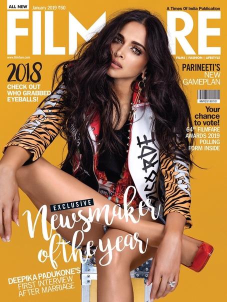 Дипика Падуконе Filmfare, Январь 2019
