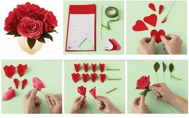 ✂ ПОДЕЛКИ Розы из бумаги
