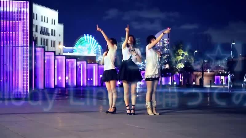 Трио японок танцуют на потрясающем фоне города vksaved.ru