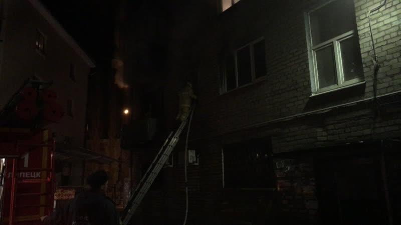 Пожар в Липецком общежитии