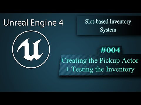 [Eng] Slot-based Inventory System Creating the Pickup Actor and Testing 004