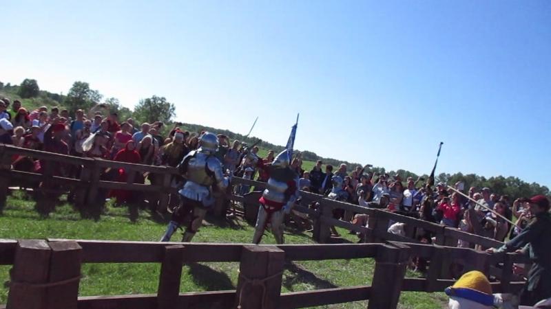 рыцарский турнир бой на двуручных мечах меч сломался Сибирский огонь 2018