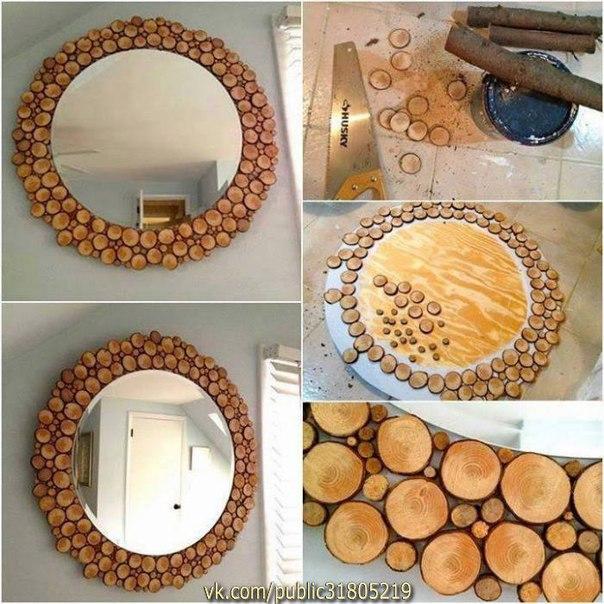 ✨ Рамка для зеркала из дерева ============================== ✂ #hand_made #сделай_сам #мастер_классы