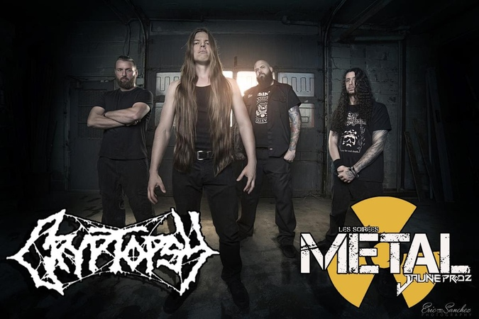 CRYPTOPSY Graves of the Fathers live @ Café Campus, Montreal - 13/05/2016