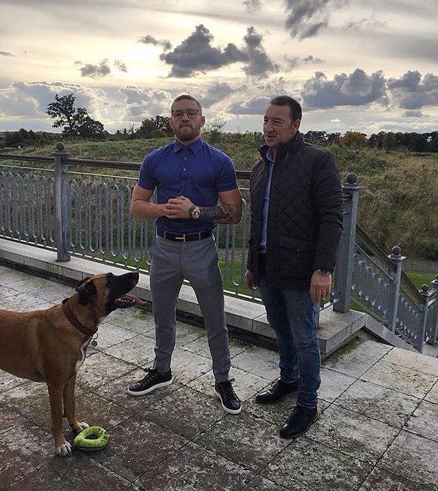 Конор МакГрегор  со своим отцом