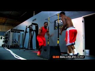Тренировка баскетболистов Брендона Дженнингса и Кемба Уокера