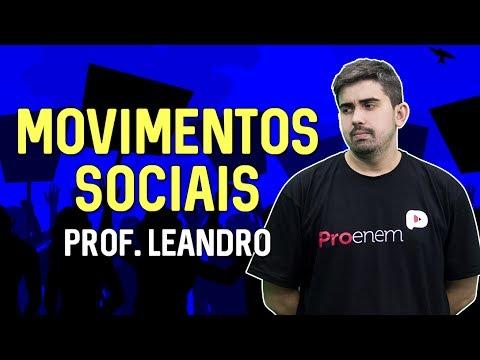 Movimentos Sociais Sociologia no ENEM Prof Leandro Vieira