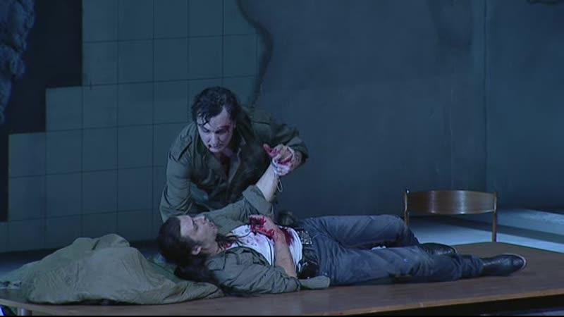 Piano Qui posi La forza del destino Act II Kaufmann Tézier Bayerische Staatsoper 2013
