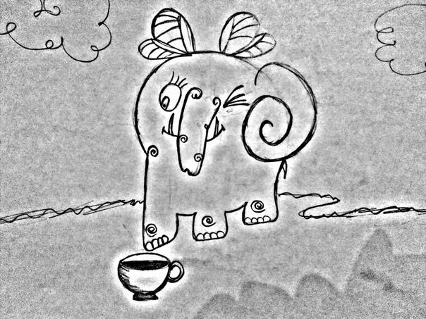 Чаепитие со слонами. Из рассказов про девочку Дашу Говорят, олимпийские боги в свое время неплохо набивали брюхо амброзией, пришла пора показать им, что такое настоящий праздник живота. К нам в