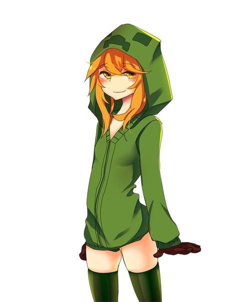 девушка крипер аниме: