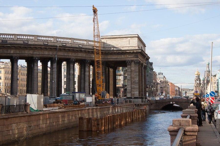 Ремонт набережной канала Грибоедова Санкт-Петербург