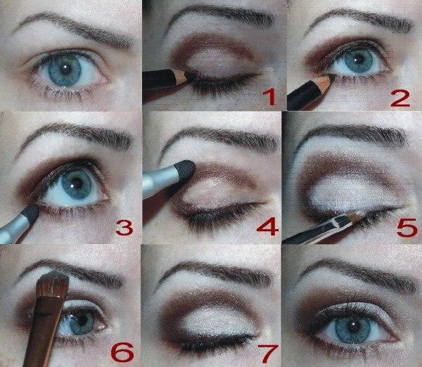 Как правильно сделать макияж на глазах 579