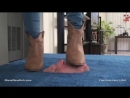 Princess Perfect face trample brown boots in box