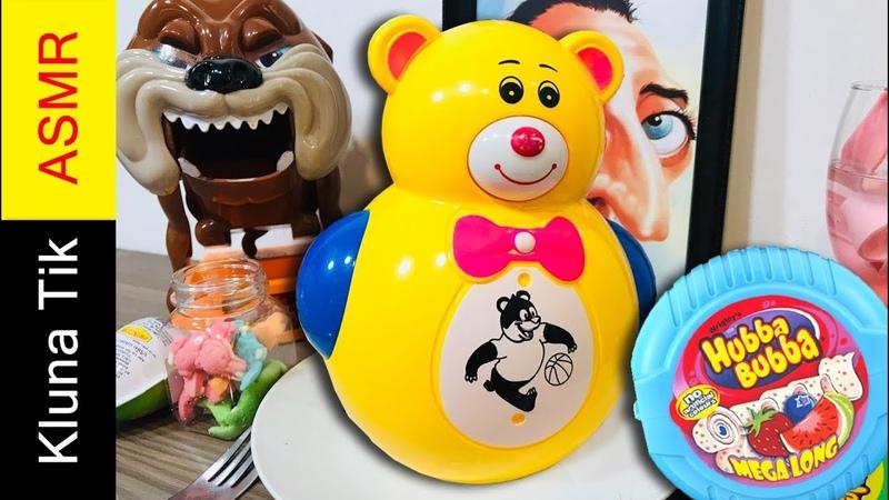 Thánh Ăn Con Gấu Lật Đật Và Kẹo Hubba Bubba Giả - Kluna Tik ASMR Dinner 92 - Ăn Đồ Chơi Trẻ Em