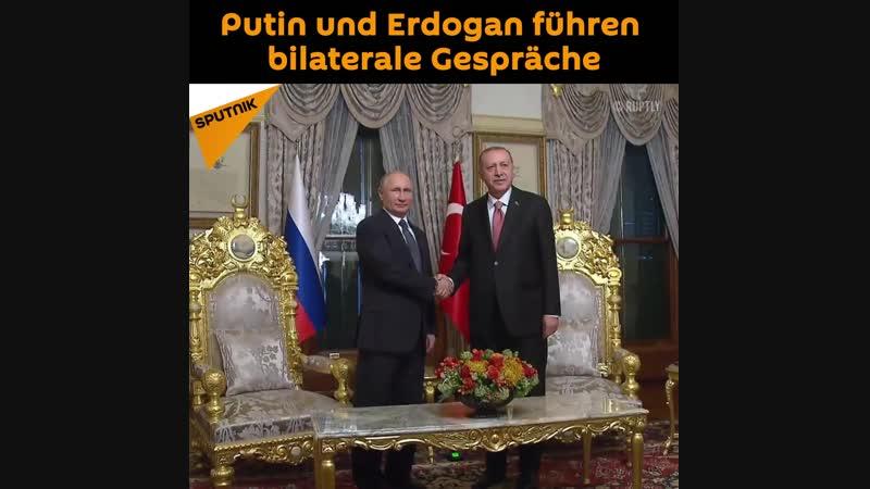 Putin und Erdogan führten bilaterale Gespräche durch