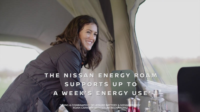 Nissan x OPUS Concept Campervan: Using the Nissan Energy ROAM Battery for Off Grid Adventures