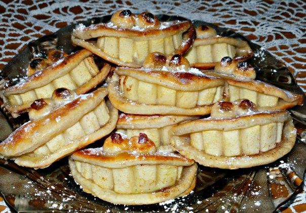 """Вкусное творожное песочное печенье с яблоками и корицей """"Улыбочка"""""""