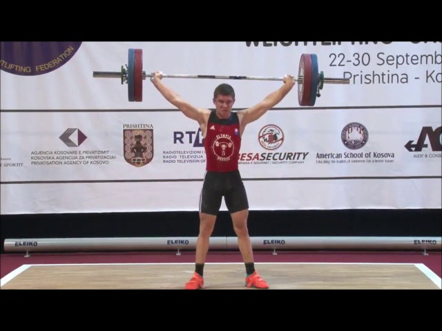 Men U17 77kg - 2017 EUROPEAN WEIGHTLIFTING CHAMPIONSHIPS U15 U17