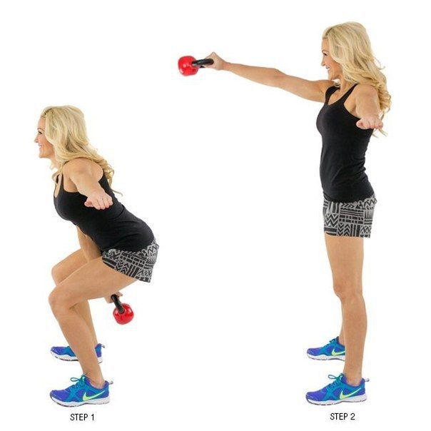 Упражнения с гирей, внеси разнообразие в тренировочный процесс… (10 фото) - картинка