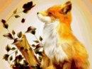 Марка нитей. животные.  Теги: лисица. лиса.  Гамма, 50 цветов.  1. лисичка.
