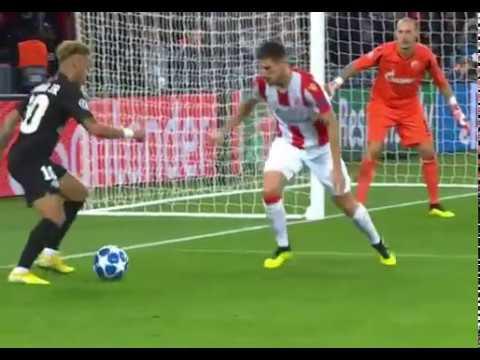 Neymar Cheeky Nutmeg vs Red Star Belgrade Crvena Zvezda 3 10 18
