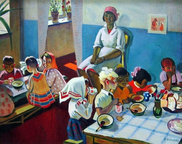 Красочная картина «Детский сад в Калмыкии»