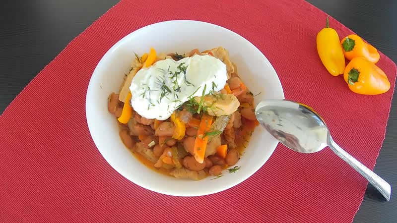 🍲Тушеная свинина с фасолью и овощами❗️ Рецепт вкусного блюда без лишних заморочек 👌😋❗️ youtu.be/ms_kogifF0s