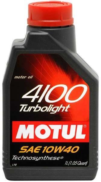 Моторное масло Motul 4100 Turbolight 10W40 1л.
