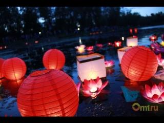 Фестиваль водных фонариков в Омске
