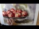 Äpfel Aquarell Präsentation Teil 4 von 4