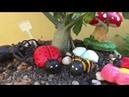 DIY Bichinhos para jardim Abelha e Joaninha