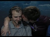 Areneae kiss SaintVicious and Jason Kaplan :) Love is in the air in Brazil! | IEM Sao Paulo 2014