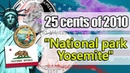 25 cents of 2010 National park Yosemite. USA. Detailed review of a coin.