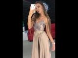 вечернее шоколадное платье