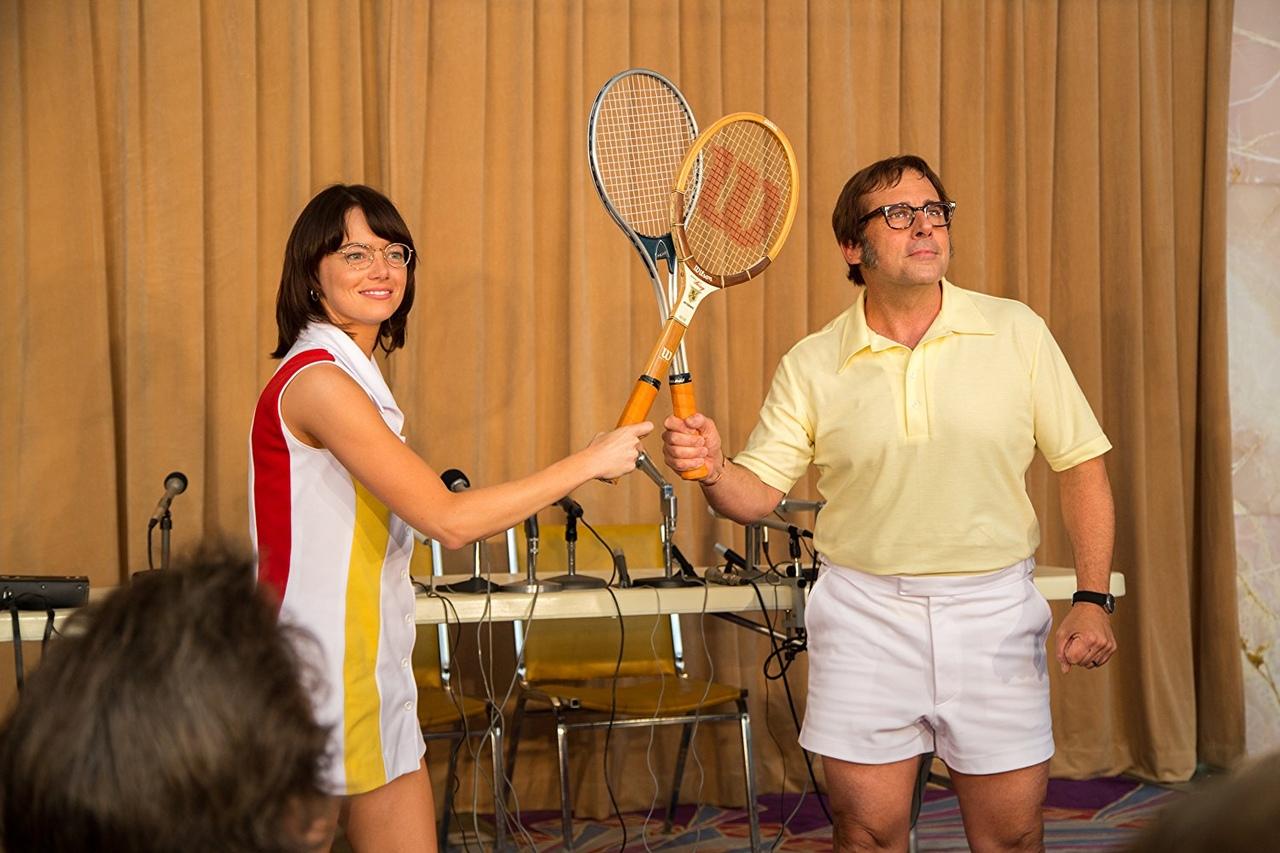 «Битва полов». 2017 г. В основу киноленты лег реальный тенни...