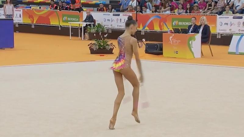 Дарья Трубникова булавы многоборьеЧемпионат Европы Гвадалахара 2018