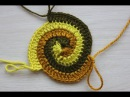 Вязание крючком. Урок 15.1 - Круг спираль начало Spiral crochet circle motif