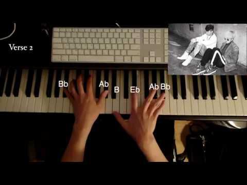 Zion T, Crush - Just(그냥) Piano Tutorial 피아노 튜토리얼