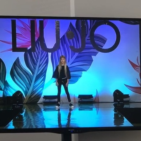 """S U M M E R on Instagram """"Walking the show for @liujoglobal @liujokids in Milan 🇮🇹 this was on Italian television 😊 filmed by mom❤️"""""""
