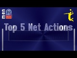 Stars in Motion: Top 5 Most Spectacular Net Actions - Volleyball Champions League Men - PO6 Leg 1