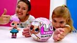 Шар ЛОЛ - распаковка куклы глэм глиттер для девочек.