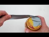 Как открыть крышку с помощью скотча