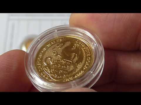 Третья золотая монета Чудовища Звери королевы красный дракон Уэльса вес 1 4унции проба 999 9