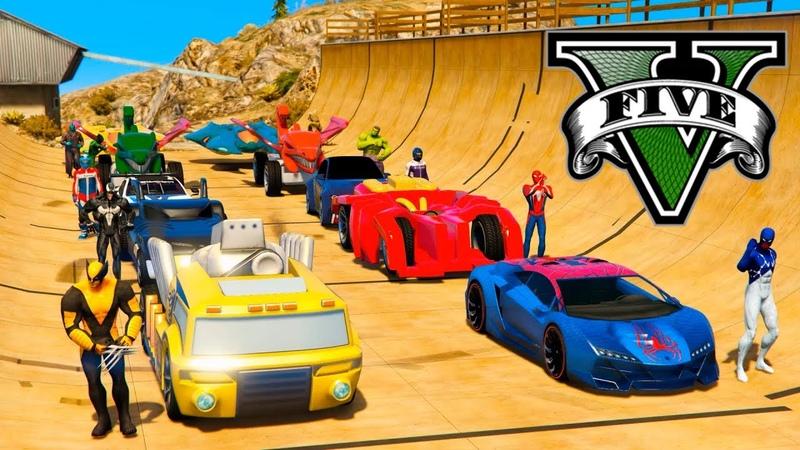 NOVO Super CARROS Cosmic Homem Aranha Desafio com Heróis Wolverine GTA V Mods - GetMods Games