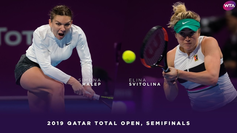 Simona Halep vs Elina Svitolina 2019 Qatar Total Open Semifinals WTA Highlights