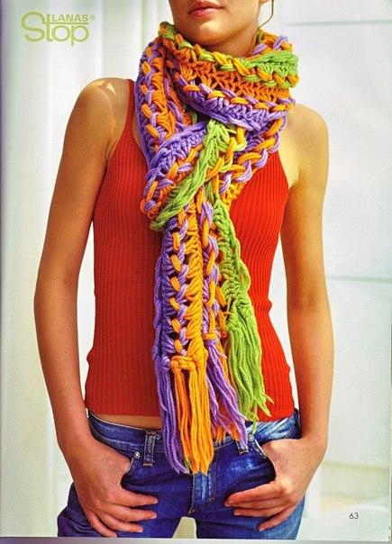 Радужный шарфик (Вилка).