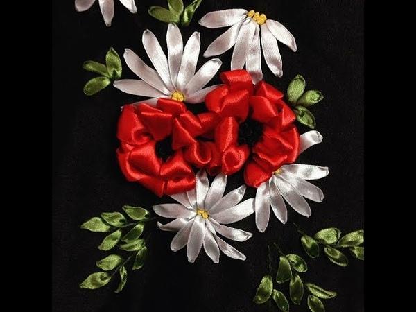 [ Ribbon Embroidery] Hướng dẫn thêu ruy băng cho người mới bắt đầu mẫu 1