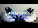 Jordan Legend Blue 11 XI Retail vs Unauthorized / Real Vs Fake 1080p HD